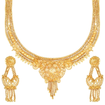 Asmitta Festive Wear 1 Gram gold plated Necklace set for women