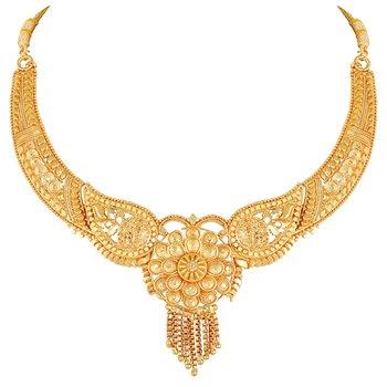 Asmitta traditional wedding 1 Gram Gold plated choker Necklace set for women
