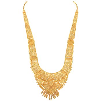 Asmitta traditional 1 Gram gold plated Long necklace set for women