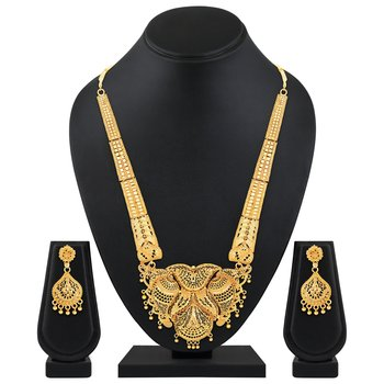 Asmitta Wedding wear 1 Gram gold plated Necklace set for women