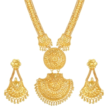 Asmitta Ethnic 1 Gram Gold plated Necklace set for women