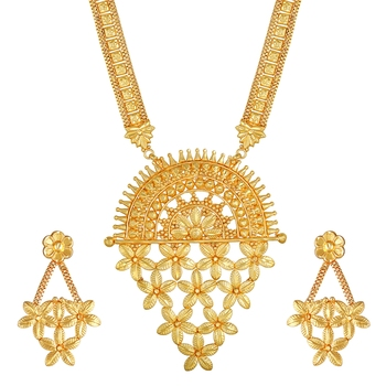 Asmitta Traditional 1 Gram gold plated Necklace set for women