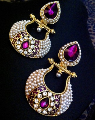 Purple earrings