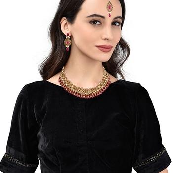 Red Kundan Necklace Sets