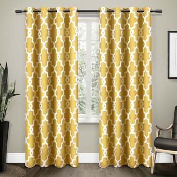 Digital Printed Polyester Whiteout Curtains Each Pack of 2 pc