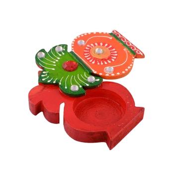 Kalash Design Colorful Wooden Chopra