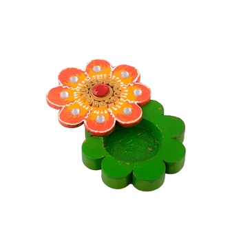 Floral Colorful Wooden Chopra
