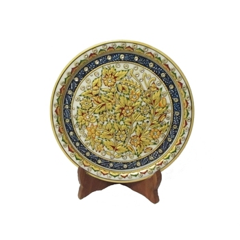 Marble Plate with Flowers