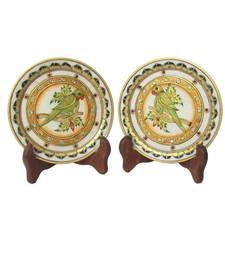 Parrot Etched Decorative Plates (Set of 2)