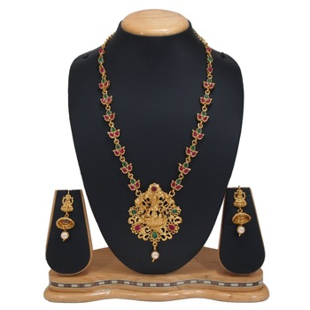 GOLD PLATED LONG  LAXMI SET
