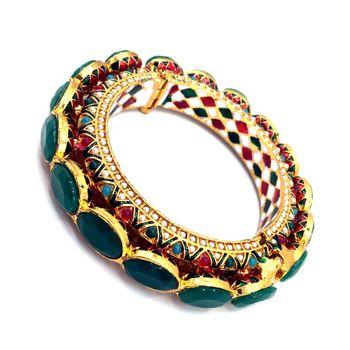 green meenakari bangles