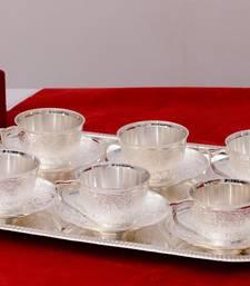 German Silver Multiutility Decorative Platter 6 Silver Bowl Set with Velvet Box
