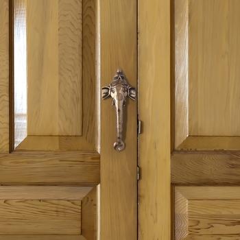 1 Pc Lord Ganesha Shape Brass Door Handle