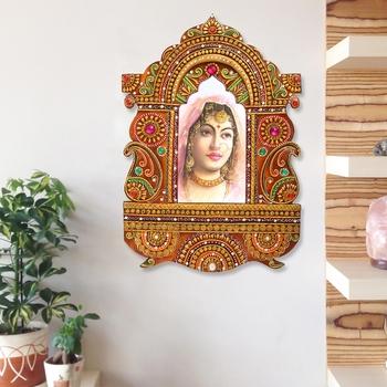 Decorative Papier-Mache Wooden Jharokha Wall Hanging