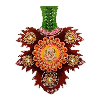 Wooden Papier Mache Decorative Lord Ganesha Key Holder