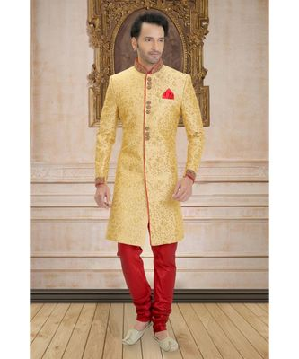 gold embroidered bengal handloom indo western dresses