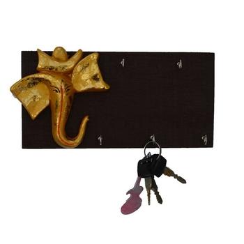 Wooden Lord Ganesha Key Holder