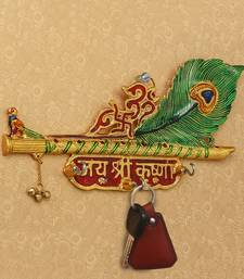 Jai Shree Krishna Key Holder With 3 Hooks