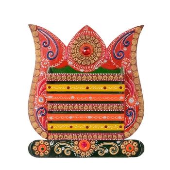 Ornamental Papier-Mache Wall Mounted Magzine Holder