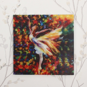 Dancing Angel Painting On Marble Square Tile