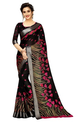 Mannequin store printed  saree with blouse