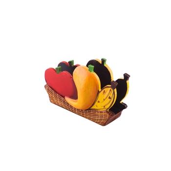 Papier-Mache Wooden Fruits Napkin Holder