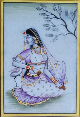 Gorgeous Ragini Painting with Swan