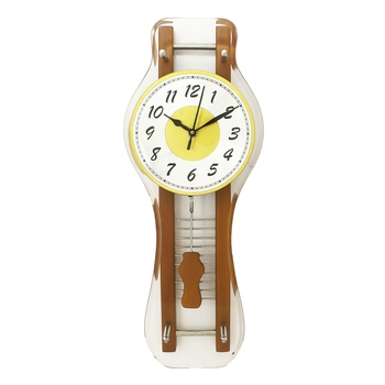 Brown Rectangle Wooden Wall Clock