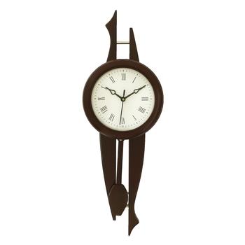 Dark Brown Vertical Wooden Wall Clock