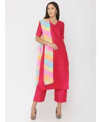 plain silk kurta-sets