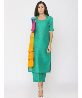gree plain art silk kurta-sets