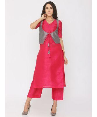 plain silk kurta-sets