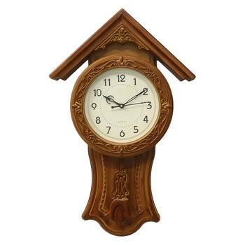 Yellow Circular Dial Vertical Analog Pendulum Wall Clock (53Cm X 33Cm)