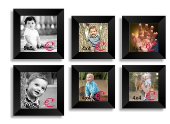 Memory Wall Collage Photo Frame Set of 6 individual photo frames