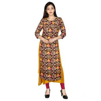 Multicolor printed Cotton ethnic kurtis