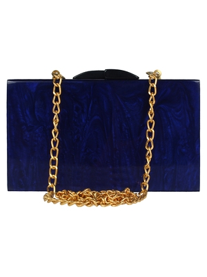 Pitch Textured Resin Clutch Blue