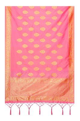 Peach Color jacquard Banarasi silk Dupatta