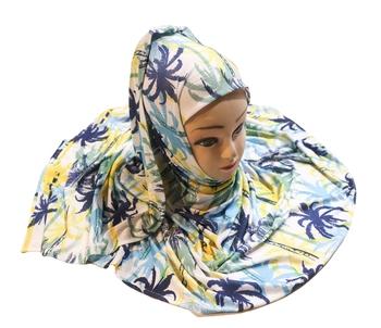 Justkartit Women's Party Wear Jersey Stretchable Material Hijab Scarf Dupatta
