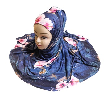 Justkartit Women'S Casual Wear Jersey Stretchable Material Printed Scarf Hijab Dupatta
