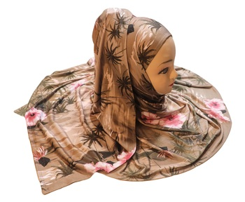 Justkartit Women'S Occasion Wear Jersey Stretchable Material Printed Hijab Scarf Dupatta
