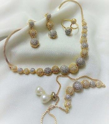 Multicolor diamond jewellery-combo