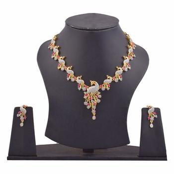 Multicolor ruby necklace-sets
