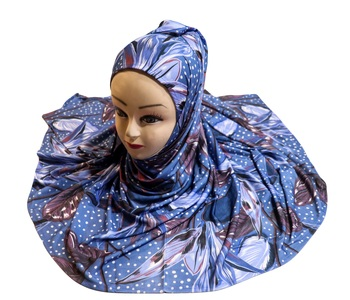 Justkartit Women's Outdoor Wear Jersey Stretchable Material Printed Hijab Scarf Dupatta