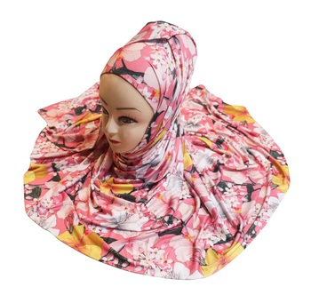 Justkartit Women'S Floral Printed Outdoor Wear Jersey Stretchable Material Printed Hijab Scarf Dupatta
