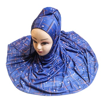 Justkartit Women's Islamic Wear Jersey Stretchable Material Printed Hijab Scarf Dupatta