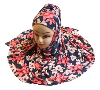 Justkartit Women'S Floral Printed Jersey Stretchable Material Printed Hijab Scarf Dupatta