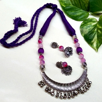 Purple agate necklaces