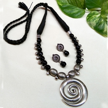 Black agate necklaces