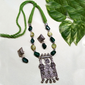 Green agate necklaces