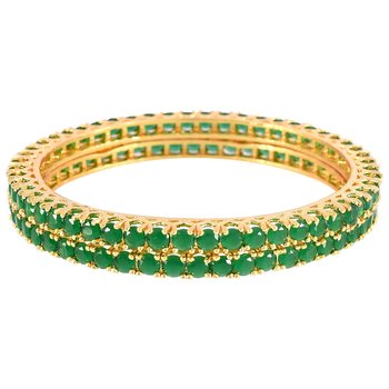 Green cubic zirconia bangles and bracelets
